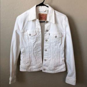 White LEVI denim jacket